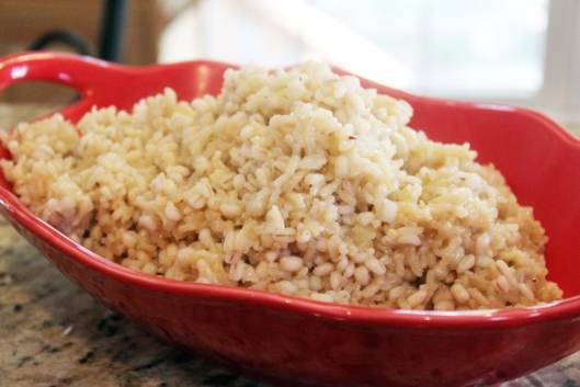 Barley and Brown Rice Pilaf