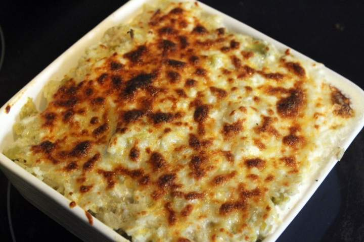 Broil until cheesy and browned
