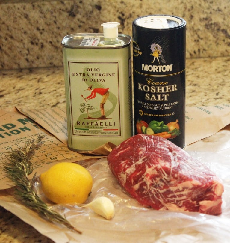 Ingredients for steak