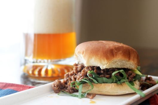 Sloppy joe with toppings