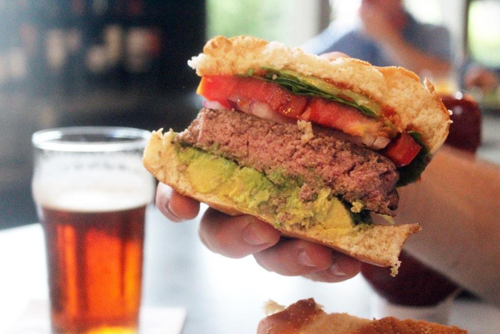 Half of burger