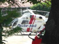 待機する「ドクターヘリ」2