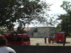ヘリ離陸後の消防の様子1