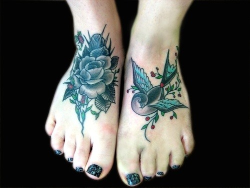 Bird Foot Tattoos For Women