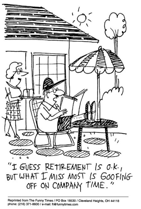 retirement the funny times