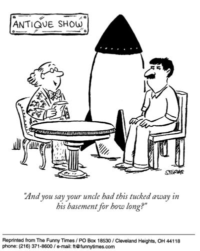 Funny storms antique show  cartoon, March 24, 2004
