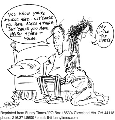Funny Shelley Matheis middle  cartoon, August 10, 2005