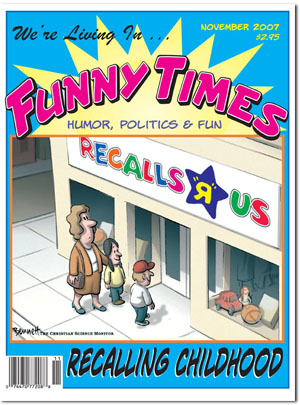 Funny Times November 2007 issue cover