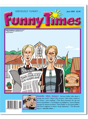 Funny Times June 2009 issue cover