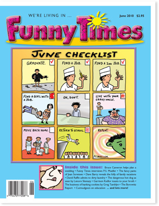 Funny Times June 2010 issue cover