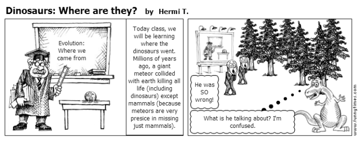 Dinosaurs Where are they by Hermi T.