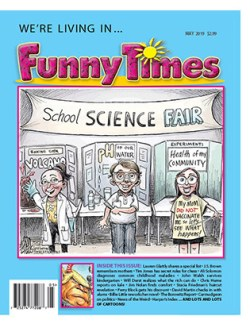 Funny Times May 2019 Issue Cover - Science Fair