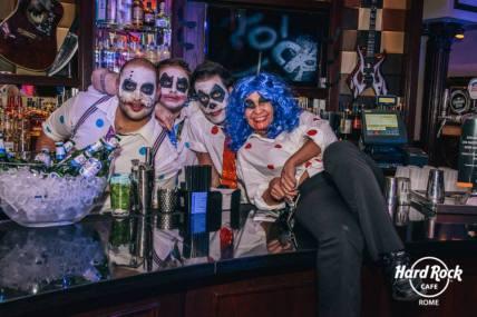 staff, baristi, halloweeen, hard rock rome