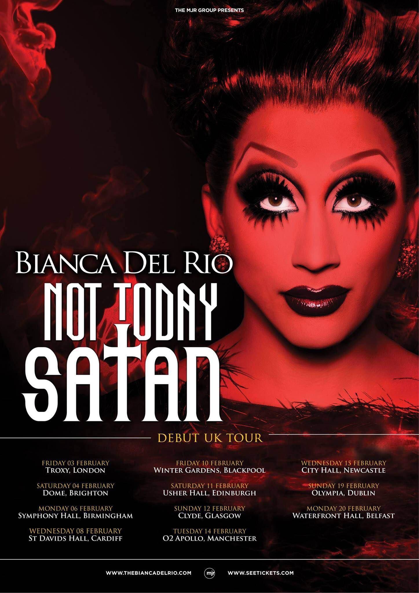 Bianca Del Rio Not Today Satan : bianca, today, satan, Bianca, Today, Satan!, Funny, Women