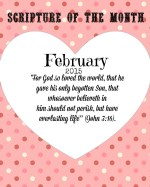 Free Monthly Scripture Printable