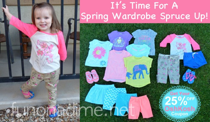OshKosh coupon Imagine spring wardrobe spruce up