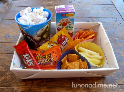 Movie Party Snack Trays