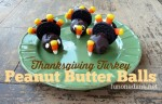 Turkey Themed Peanut Butter Balls