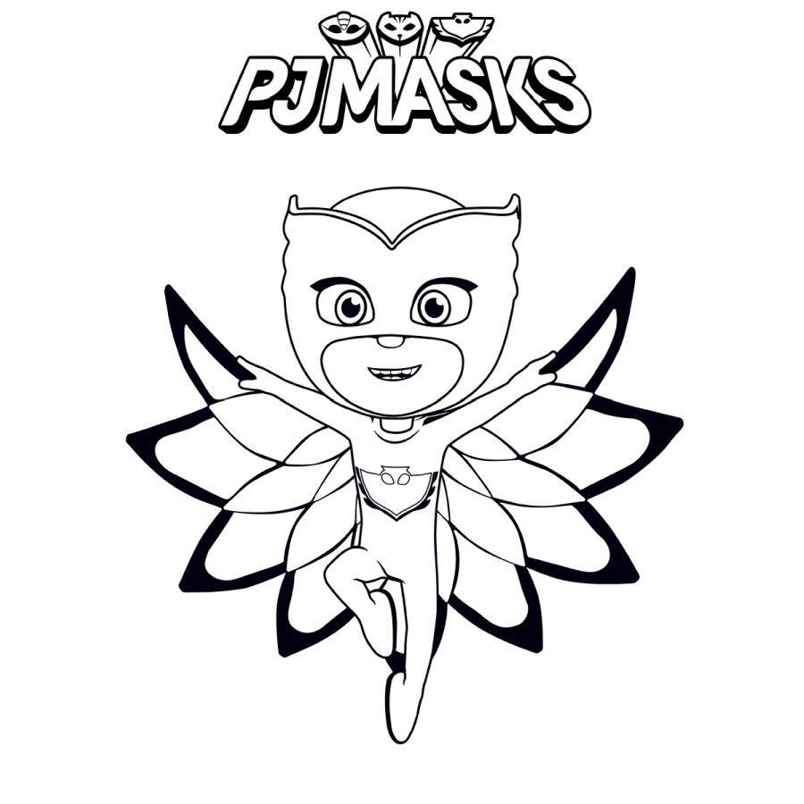 Ausmalbilder Pj Masks Eulette Kinder Ausmalbilder