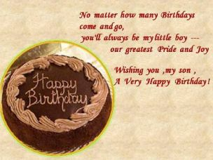 Birthday Quotes for Son from Parents