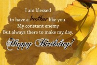 Birthday Quotes for elder Brother from Brother