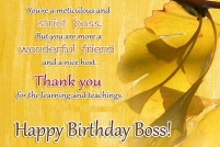 Birthday Quotes for Ex Boss