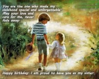 Birthday Quotes for older Brother from Sister