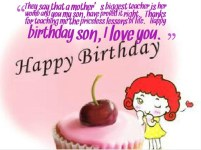 Birthday Quotes for only Son