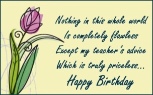 Birthday Quotes for Teachers from Students