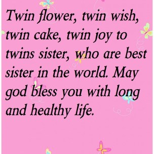 Birthday Quotes for Twins Sister
