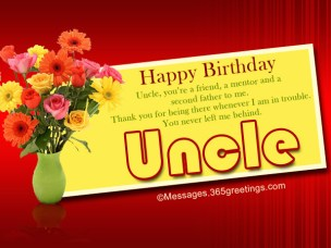 Birthday Quotes for Uncle in English