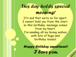 Birthday Quotes for wife long distance