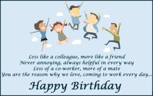 Birthday Quotes for work colleagues