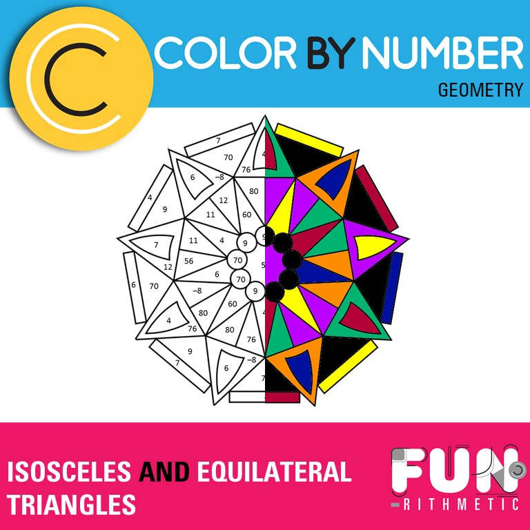 Isosceles And Equilateral Triangles Color By Number Funrithmetic
