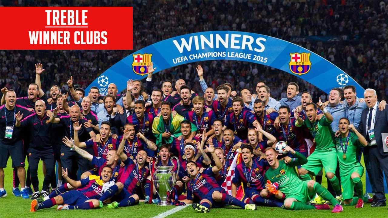 Barca treble winning team in 2015 UEFA Super Cup
