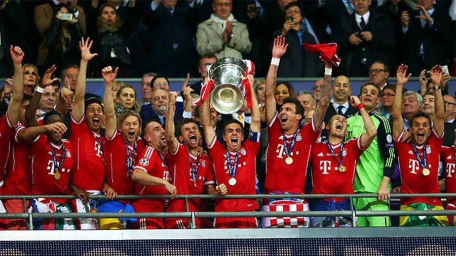 FC Bayern Munich won Champions League 2012-13 and won their first treble
