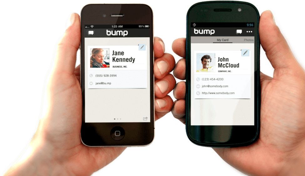 Bump and Flock which original name was google BUMP is a FILES-SHARING APP, Bump Technologies shut down the service and discontinued the app on January 31, 2014, after being acquired by Google for Google Photos and Android Camera