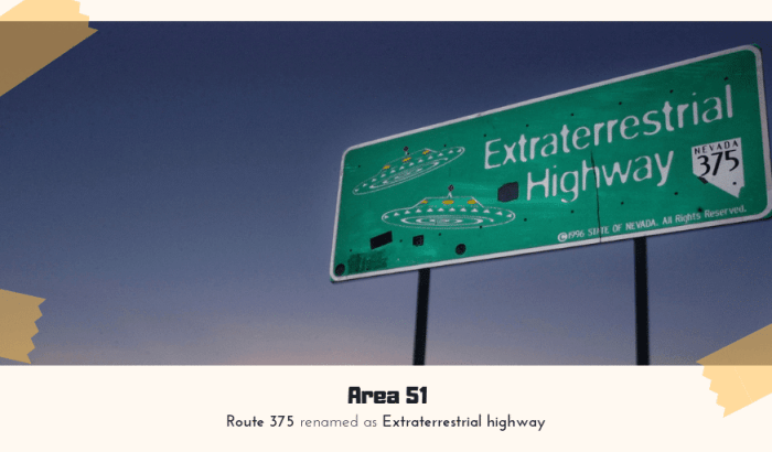 Area 51 Mystery : Route 375 renamed as Extraterrestrial highway