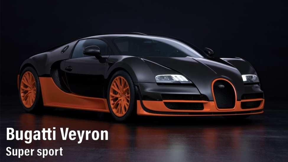 Bugatti Veyron super sport - no 1 fastest car from Bugatti Automobiles S.A.S.
