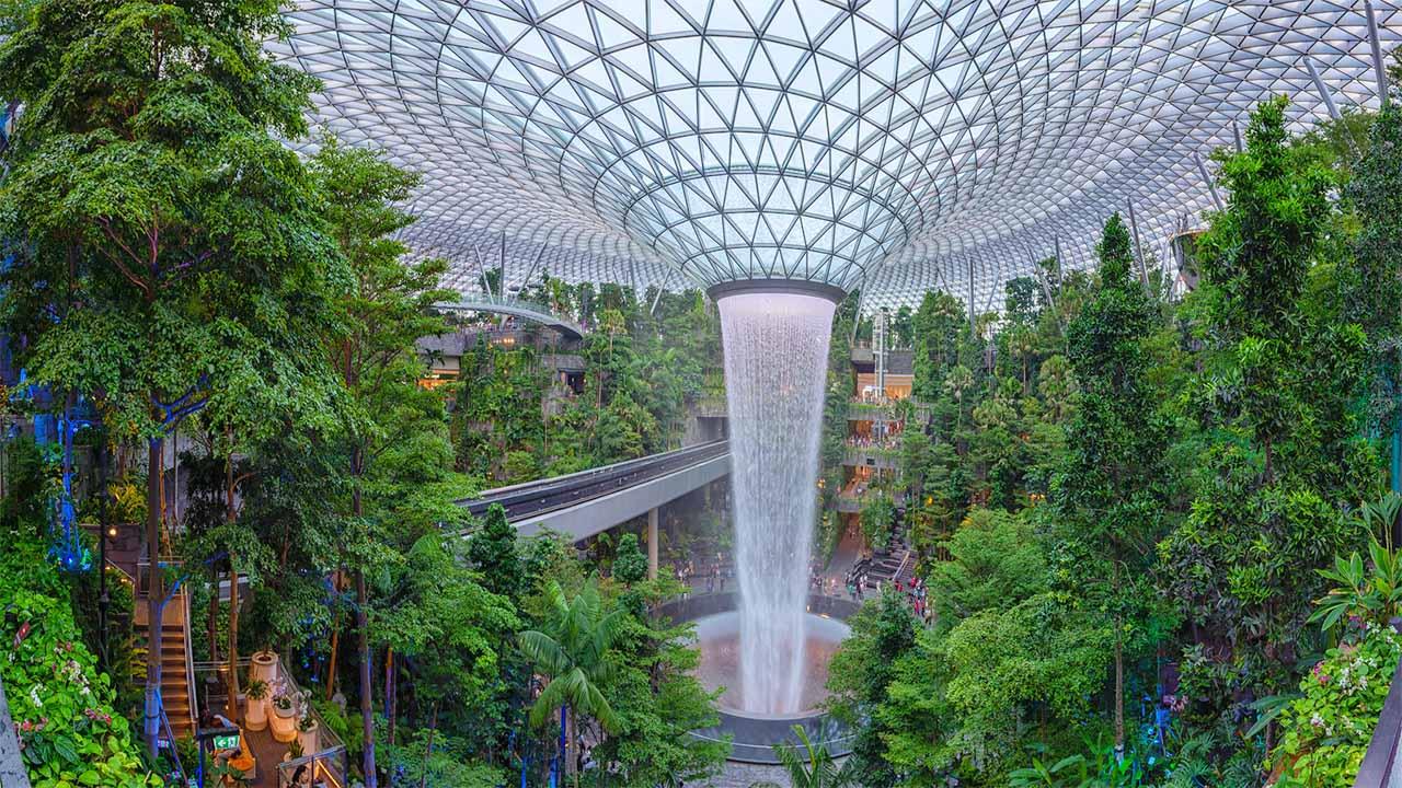 Singapore jewel changi airport tourist spot