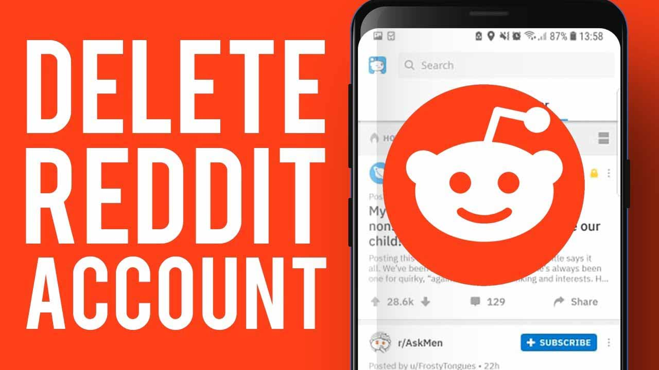 how to delete reddit account