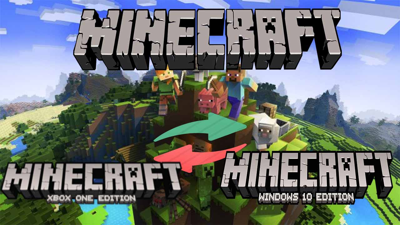 How to transfer minecraft worlds from xbox one to windows 10 without realms?
