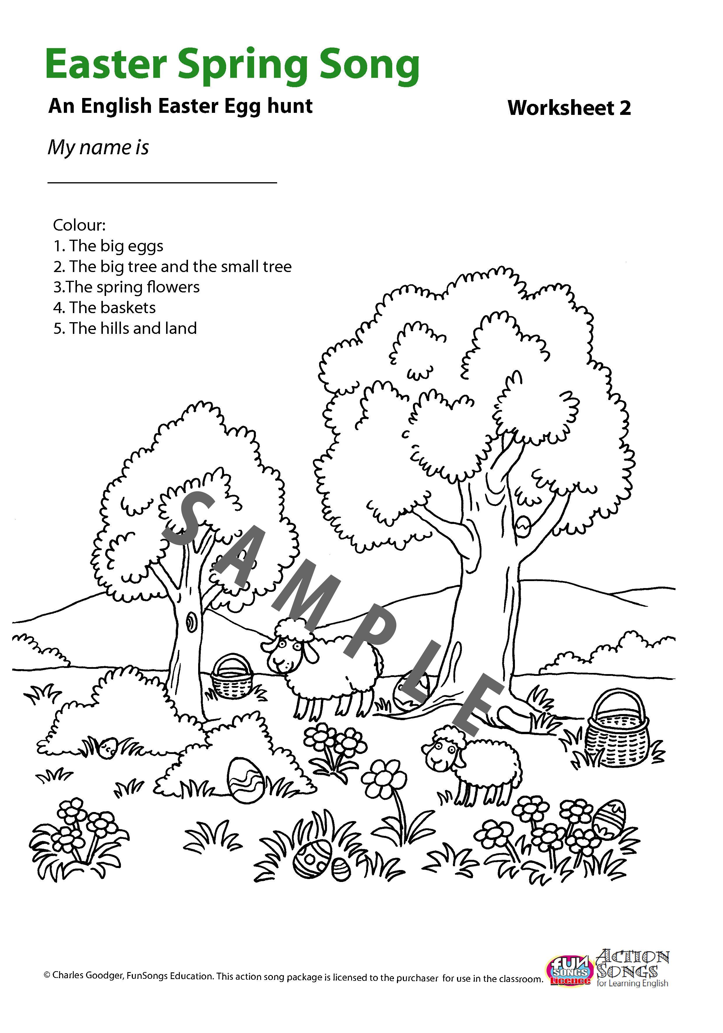 Easter English Worksheet