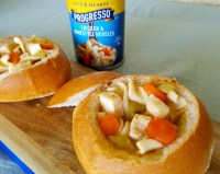Easy Chicken Soup Bread Bowl Recipe
