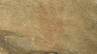 The art of the ancient Puebloans. (Can you see there were 6 fingers?)