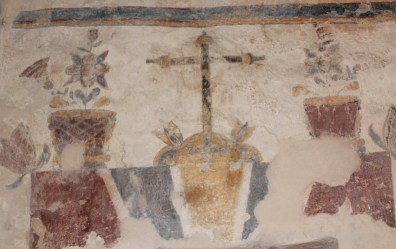 Painting in the wall in the 1700's