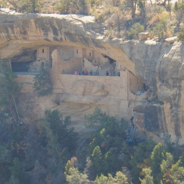 Balcony Houses from across the canyon