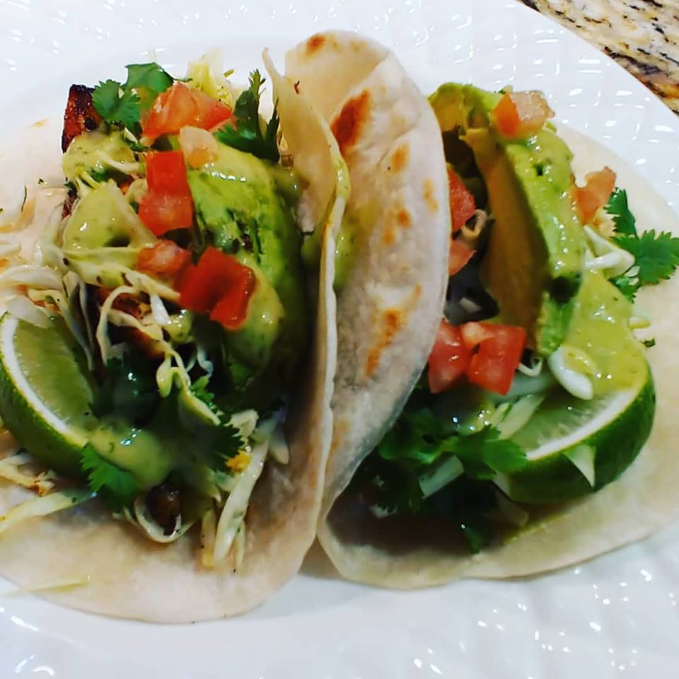 Quick & Easy Fish (or Tofu) Tacos with Cilantro Lime Cabbage Slaw