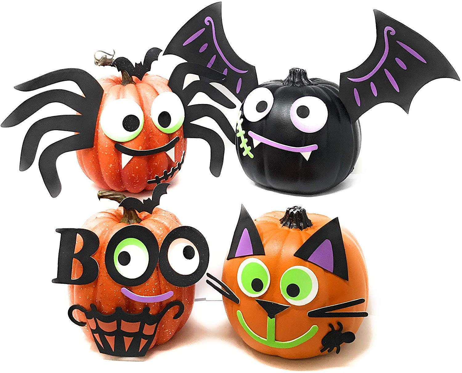 Foam Halloween Pumpkin Decorating Craft Kit Stickers
