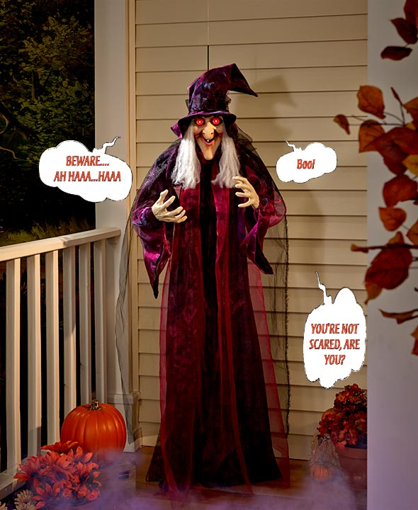 "71"" Hanging Talking Witch for halloween decoration"